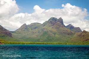 Mount Bowen behind Zoe Bay